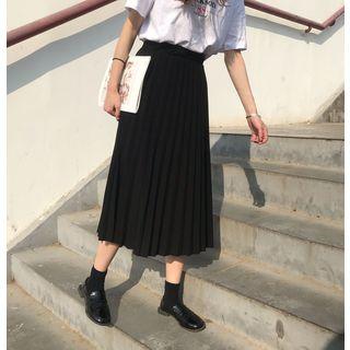 Sancus - Pleated Midi Skirt