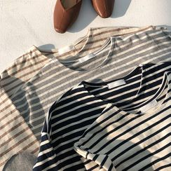 icecream12 - Loose-Fit Striped T-Shirt