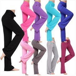 AUM - 寬腿健身運動褲