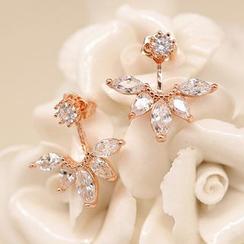 Knick Knack - Rhinestone Petals Swing Earrings