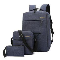 Golden Kelly - Set: Laptop Backpack + Crossbody Bag + Pouch