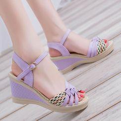 Kristallica - Wedge-Heel Sandals