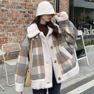 GOUB - Plaid Fleece-Lined Coat