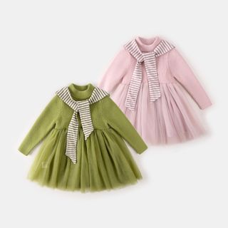 My Olie Baby - Kids Paneled Knit Dress