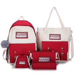 Tango Sky - 四件套装: 帆布背包 + 斜挎包 + 小袋 + 手提袋