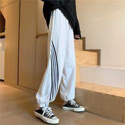 Sharis - 條紋拼接運動褲