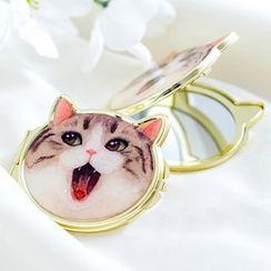 Piggy House -  Cat Portable Mirror