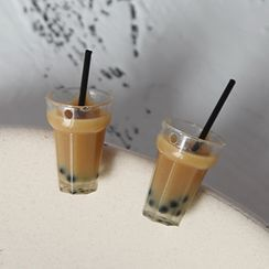 Cometto - Resin Miniature Milk Tea Earring