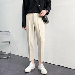 VEAZ - Plain Slim-Fit Cropped Dress Pants
