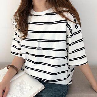 Dute - Striped Short-Sleeve T-Shirt