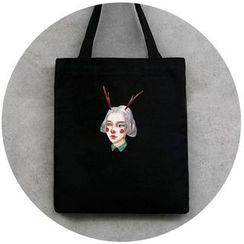 DUYU(ドゥユ) - Printed Canvas Shopper Bag