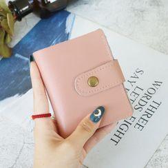RAINBOWXX - Genuine Leather Buttoned Card Holder