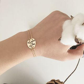 Ignar - Lettering Engraved Friendship Bracelet