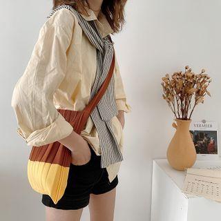 TangTangBags - 针织双色手提袋