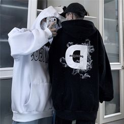 Malnia Home - Couple Matching Letter Print Hoodie