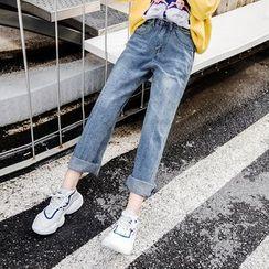 Maple Breeze - Washed Wide-Leg Jeans