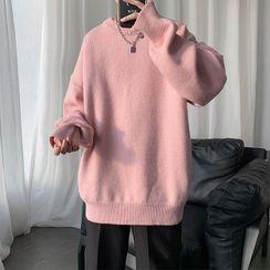 Priam - Long-Sleeve Plain Knit Top