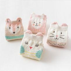 Knit a Bit - Kids Set of 4: Printed Crew Socks