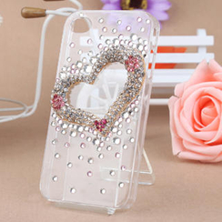 Fit-to-Kill - Plum Flower Heart shaped iPhone 4/4S Case