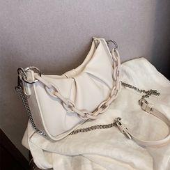 Skyglow - Chunky Chain Faux Leather Handbag