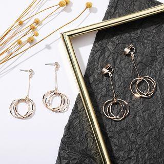 Coolgirl - Alloy Hoop Dangle Earring (Various Design)
