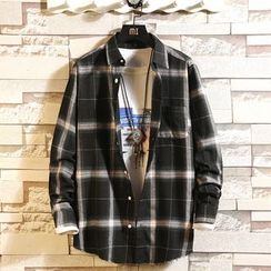 Moarit - Long-Sleeve Plaid Shirt