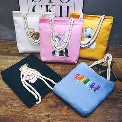 ANEMOI - 印花帆布购物袋