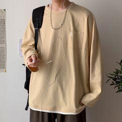 KOKAY - Long-Sleeve Lettering T-Shirt