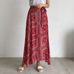 PIPPIN - Tie-Waist Paisley Print Wrap Skirt