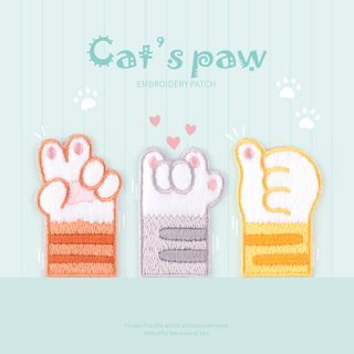 Embroidery Kingdom - Cat Paw Food Embroidered Applique Patch