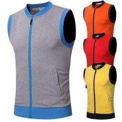 Sheck - Contrast Trim Zip Vest