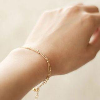 YASIN - Layered Beaded Chain Bracelet