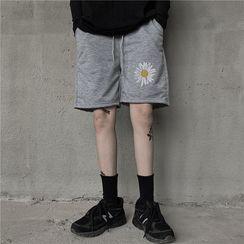 Giuliana - Floral Print Knee-Length Shorts