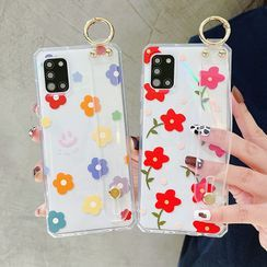 CeLLEAGUE - Flower Print Wrist Strap Phone Case - iPhone, SAMSUNG