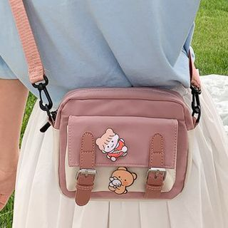 Youme(ユーミー) - Two-Tone Canvas Crossbody Bag