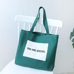 Ms Bean - Lettering Tote Bag