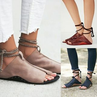 Shoeland - Ankle Strap Flat Sandals
