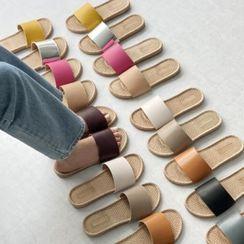 Wifky - Band Espadrille Slide Sandals