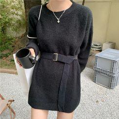 Oloq - Plain Sweater Dress