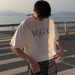 JISHOM - 中袖字母衬衫