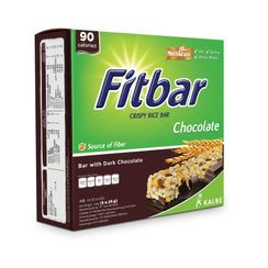 Three O'Clock - Fitbar Crispy Rice Bar with Dark Chocolate (90 calories) 24g x5