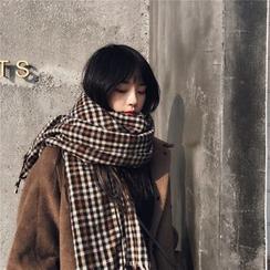 Ffion - 格子流蘇圍巾