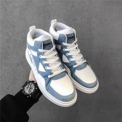 BELLOCK - Paneled High-Top Sneakers