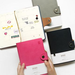 BABOSARANG - 2020 Buttoned Pleather Weekly Planner (S)