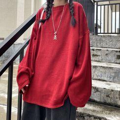 2DAWGS(2ドーグス) - Round-Neck Plain Sweater