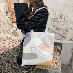 Milha - Lettering Print Tote Bag