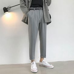 BORGO(ボルゴ) - Pintuck Cropped Dress Pants