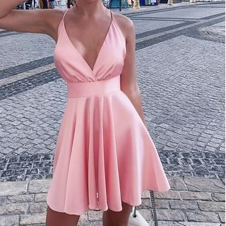 Puffields - Strappy A-line Dress