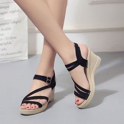KONIN - Wedge-Heel Platform Sandals