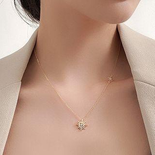 Catalunya - Rhinestone Star Pendant Necklace